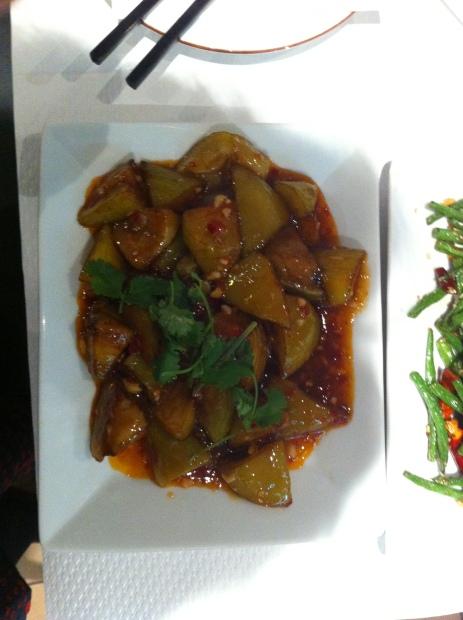 鱼香茄子 aubergines pigmentées et aigre douce.